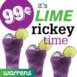 99¢ lime rickey warrens dylans