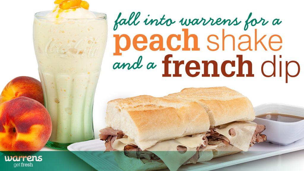 peach shakes french dip