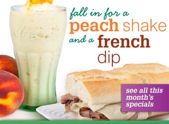 peach shake french dip