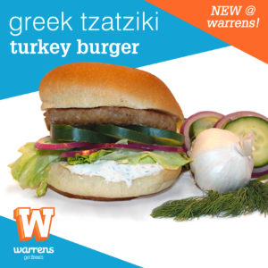 greek tzatziki turkey burger