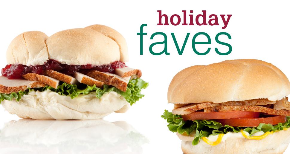 holiday shakes turkey sandwiches